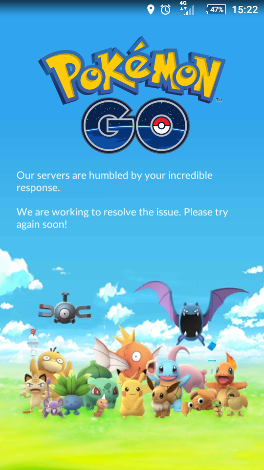 DJMO Pokemong Go servers down
