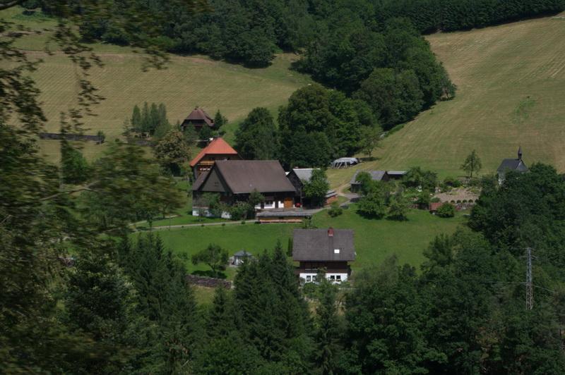 Treinrit met een stoomtrein over de Schwarzwaldbahn in het Zwarte Woud
