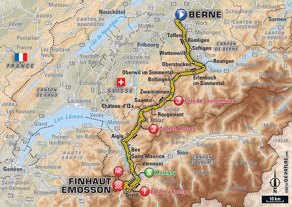 De route van vandaag (Bron: Letour.fr)