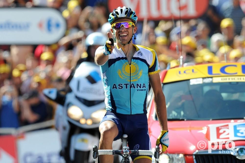 Alberto 'El Pistolero' Contador won in 2009 al een etappe in de Tour in deze omgeving (PROSHOTS/DPPI)