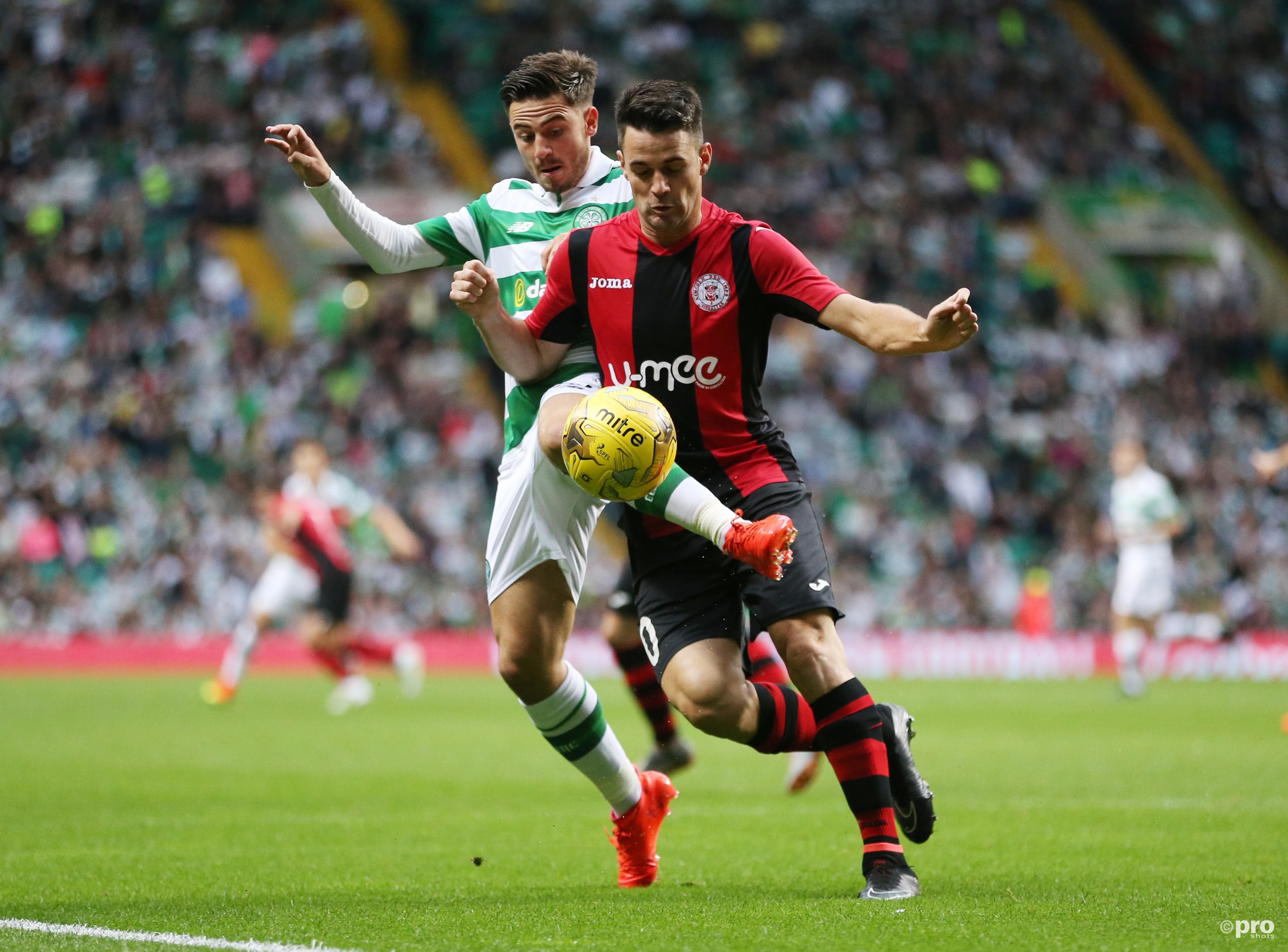 Celtic kan nu wel winnen van de ploeg met slechts vijf profspelers. (PRO SHOTS/Action Images)