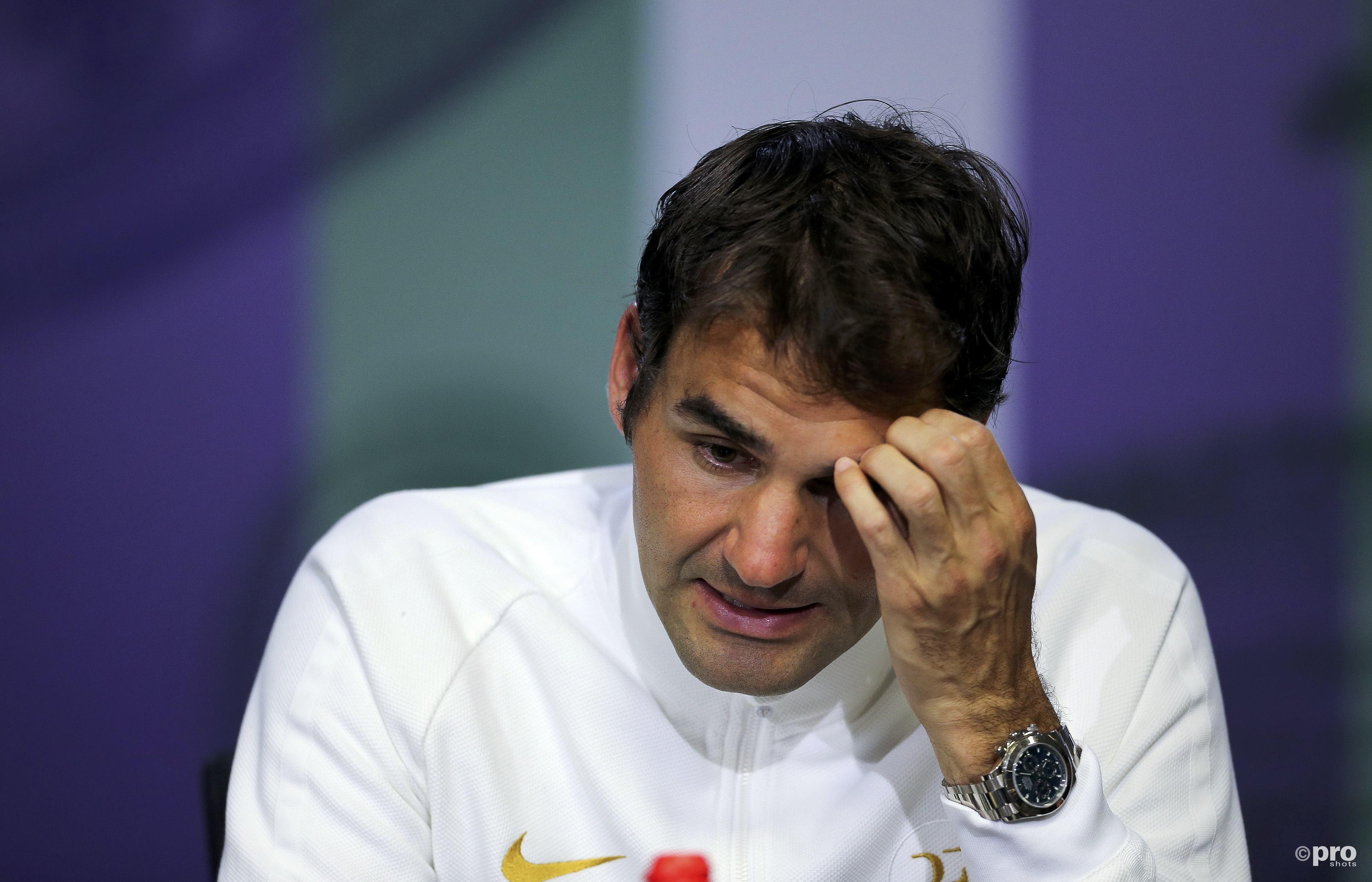 Het seizoen van Roger Federer is voorbij. (PRO SHOTS/Action Images)