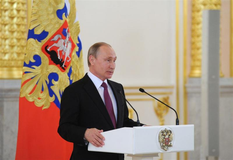 Poetin herdenkt krijgsgevangenen in Slovenië