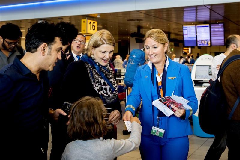 Acties grondpersoneel KLM bij incheckbalies
