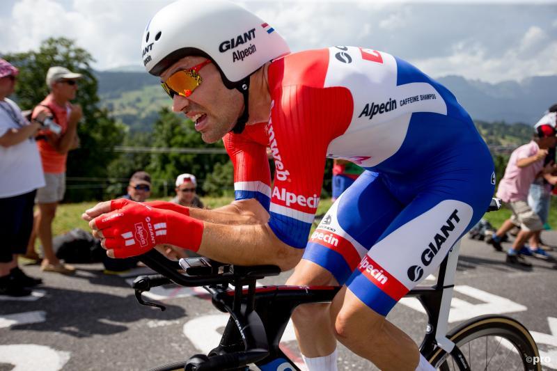 Dumoulin in actie tijdens de tijdrit in de Tour (PRO SHOTS/George Deswijzen)