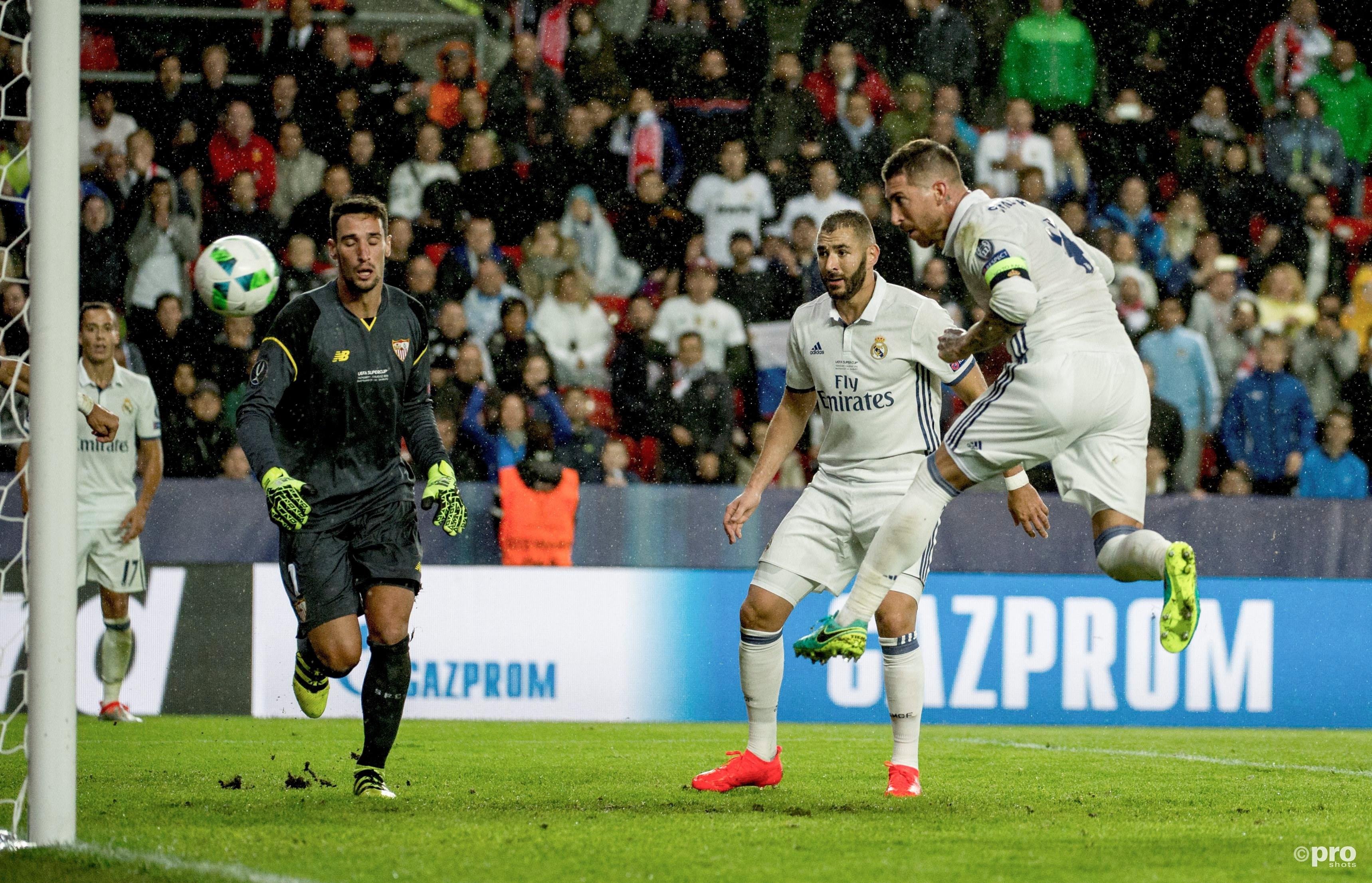 Sergio Ramos kopt de 2-2 binnen. (PRO SHOTS/Action Images)