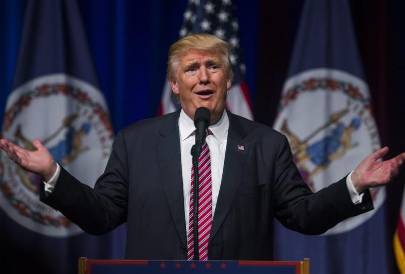 Beveiliging spreekt Trump over 'geweldsoproep'