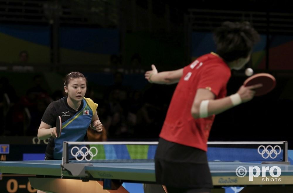 Li Xiaoxia veegt de tafel aan met Fukuhara (PROSHOTS/Action Images)