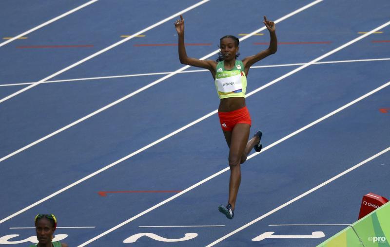 Almaz Ayana liep naar het goud in een nieuw wereldrecord (Pro Shots / Action Images)