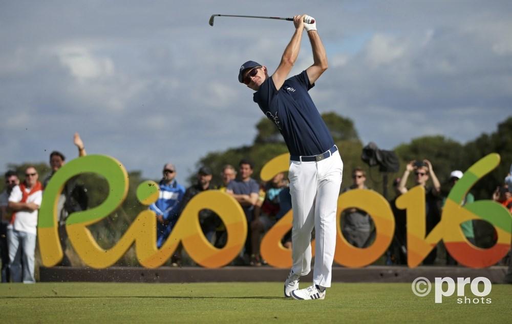 De Brit Justin Rose sloeg op dag één een hole-in-one op de olympische golfbaan (PROSHOTS/Action Images)