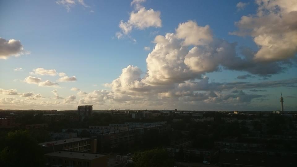 Wolken boven Haarlem (vorig jaar augustus)