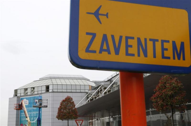 Cameraschild bij vliegveld Zaventem