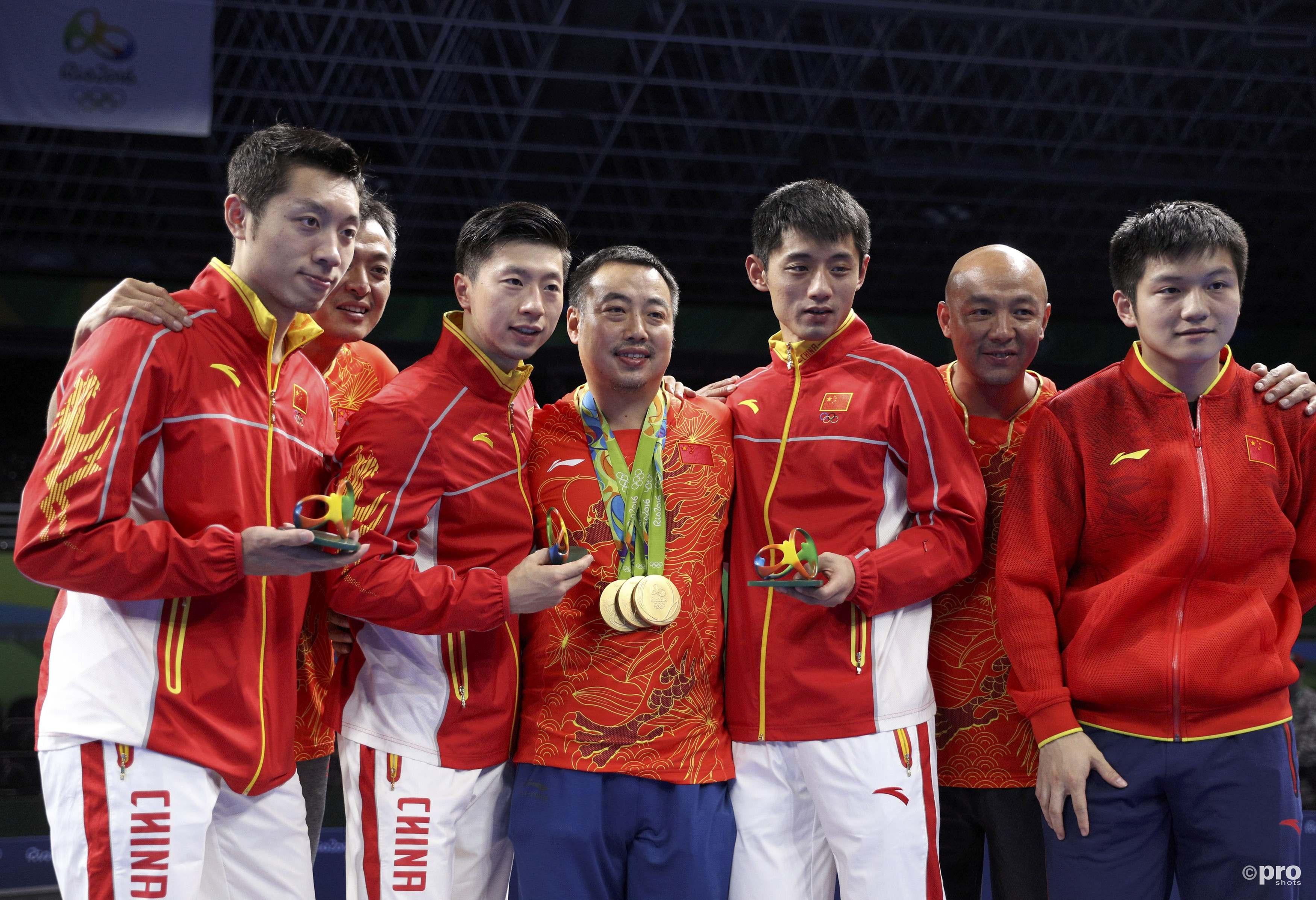De gouden Chinese tafeltennisploeg (PROSHOTS/Action Images)