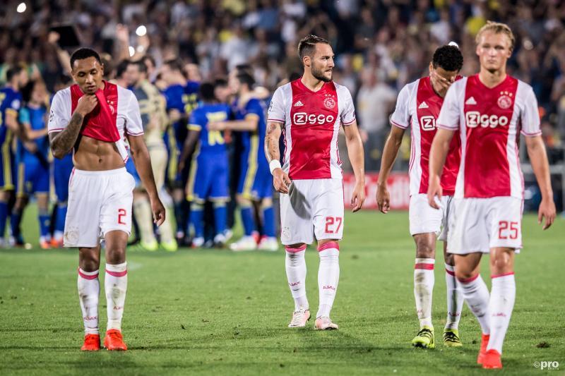 Spelers Ajax druipen af na wanvertoning tegen Rostov (Pro Shots/Erwin Spek)