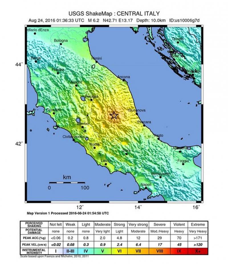 Doden door aardbeving Midden-Italië