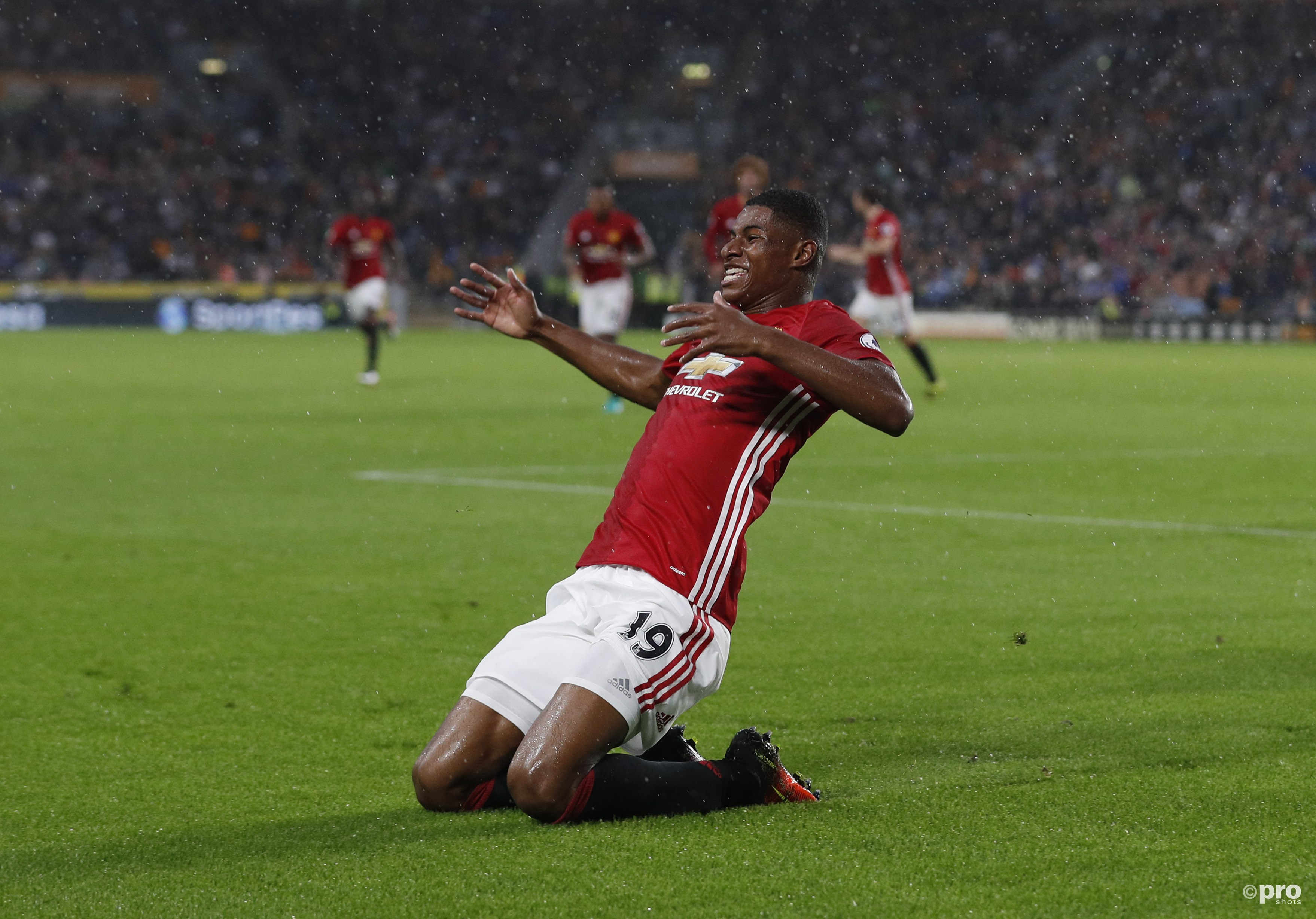 Marcus Rashford bezorgt Man. United drie punten in blessuretijd. (PRO SHOTS/Action Images)
