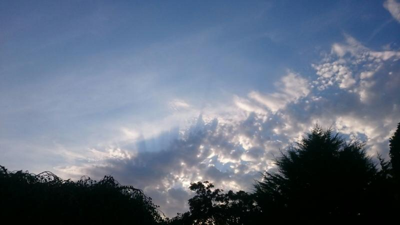 Kiwias en Naomi zagen deze prachtige lucht in hun achtertuin in Monster (Foto: Kiwias en Naomi)