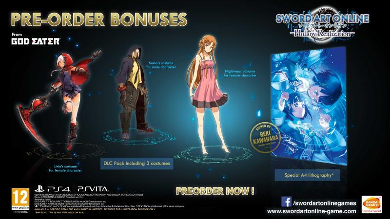 Sword Art Online Preorder bonus