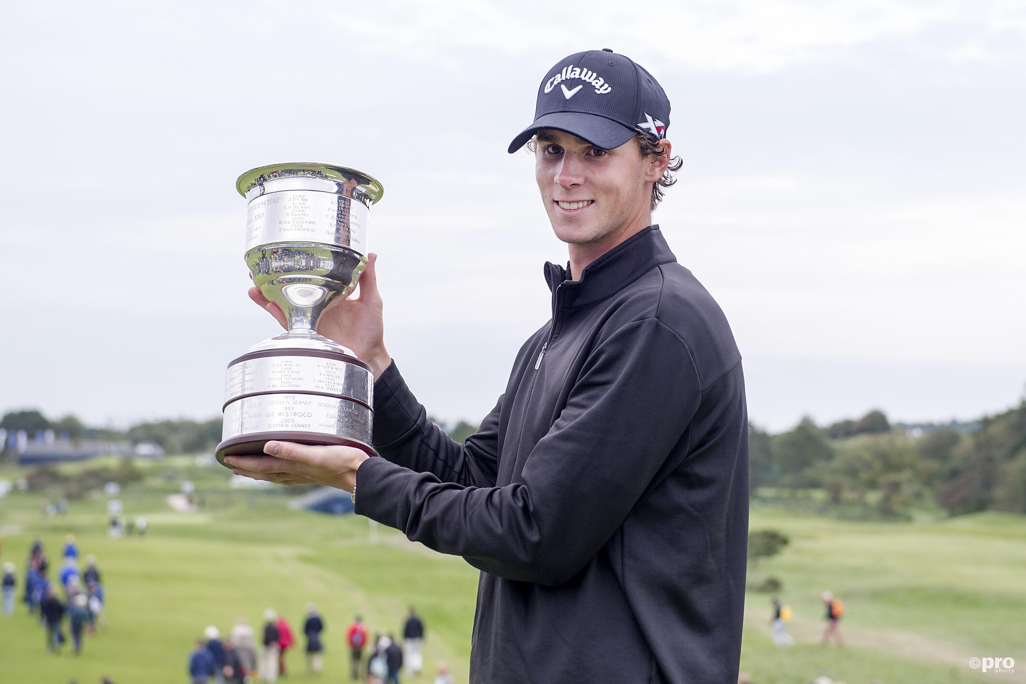 Thomas Pieters won vorig jaar ook het KLM Open. (PRO SHOTS/Martijn Buskermolen)