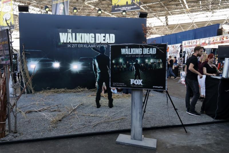 Fans van The Walking Dead konden op de foto als een potentieel Negan-slachtoffer (Foto: Yuen Li)
