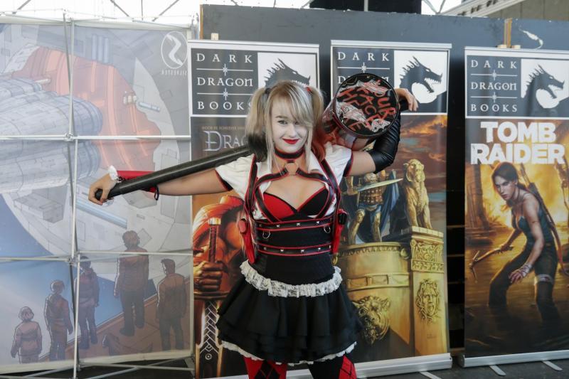 Deze Harley Quinn is alleen met haar hoofd in een vat met chemicaliën gevallen (Foto: Yuen Li)
