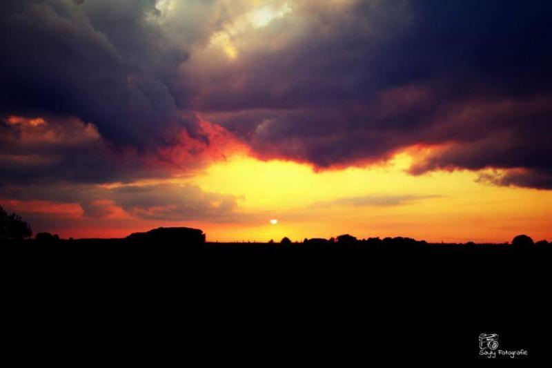 Prachtige lucht bij Luuntje. (Foto: Luuntje)