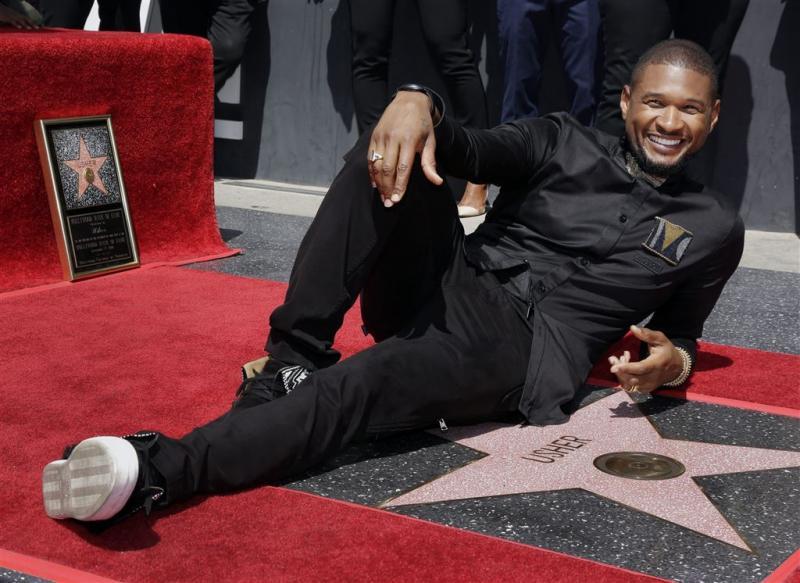 Usher krijgt ster op Hollywood Walk of Fame