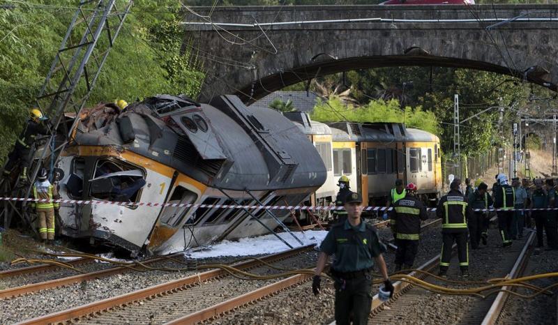 Vier doden bij treinongeluk Noord-Spanje