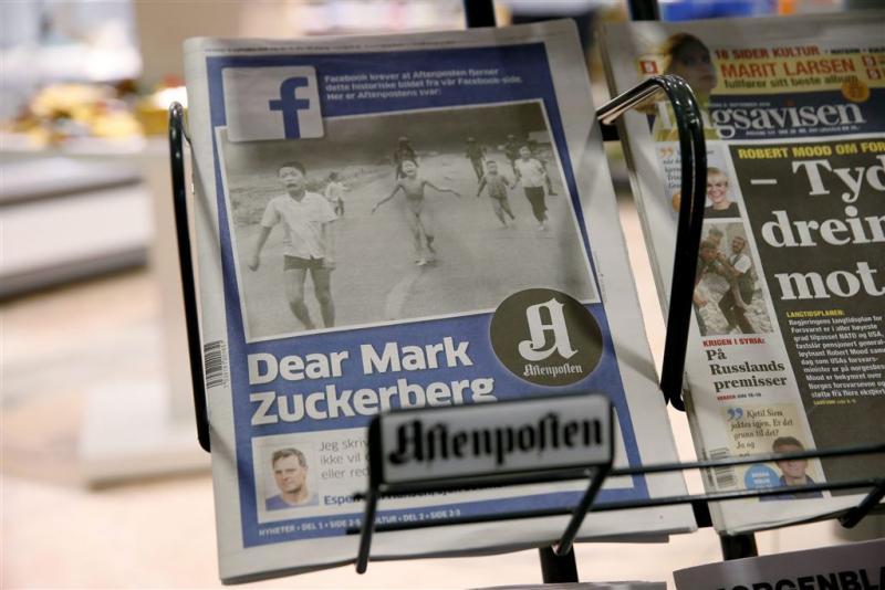 Ruzie Noorse krant en Facebook om 'blootfoto'
