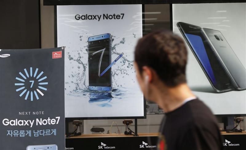 Samsung zet update in tegen defect Note 7