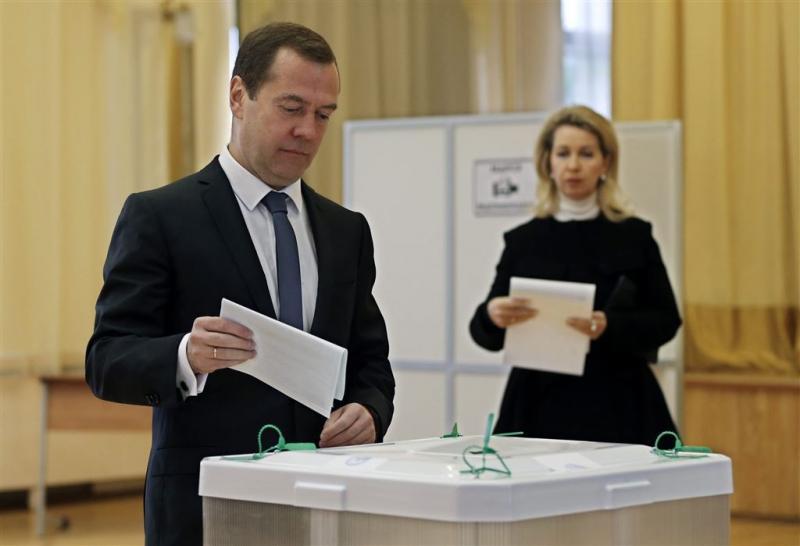 Verenigd Rusland krijgt 44,5 procent