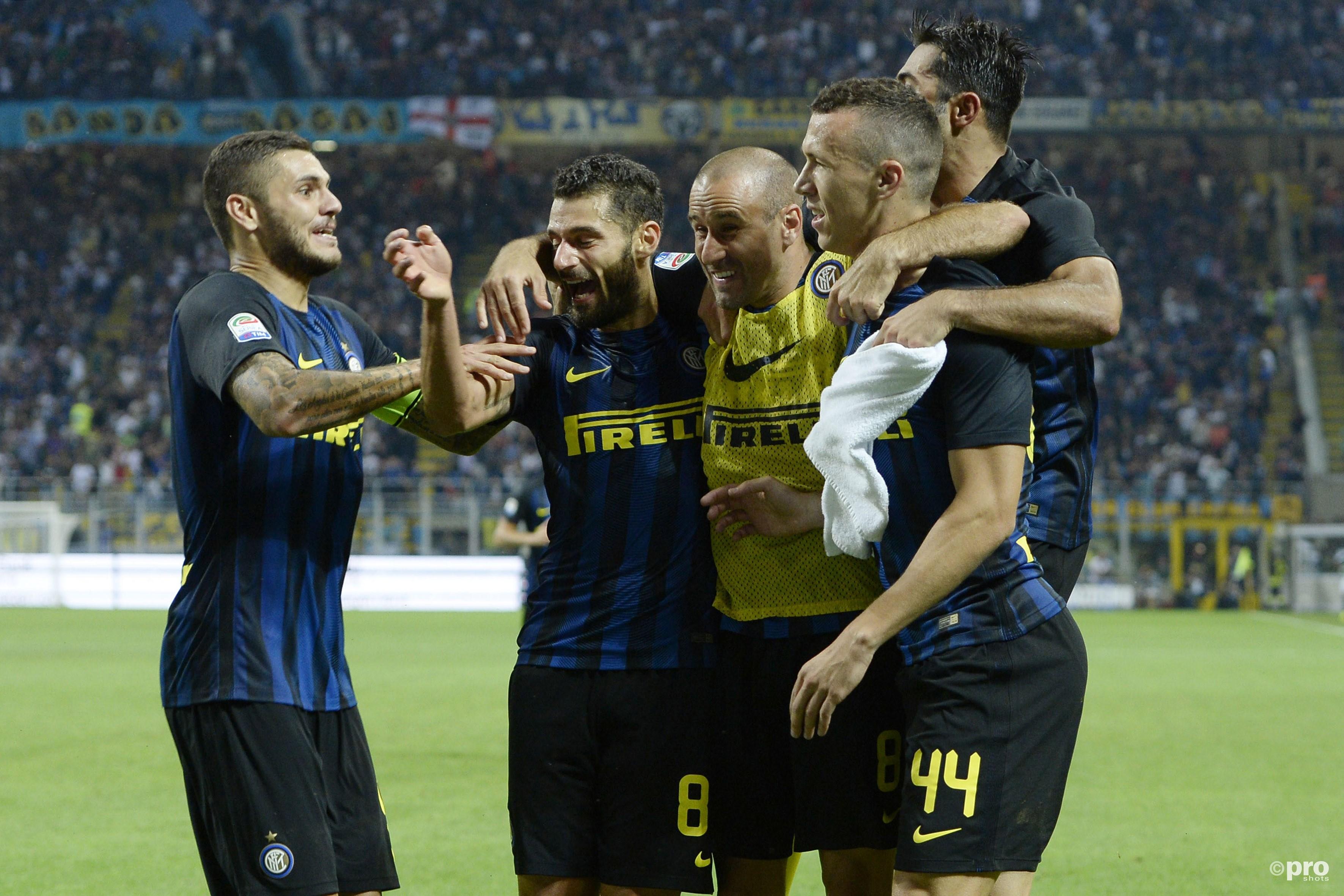Inter feest het feest van Icardi. (PRO SHOTS/Insidefoto)