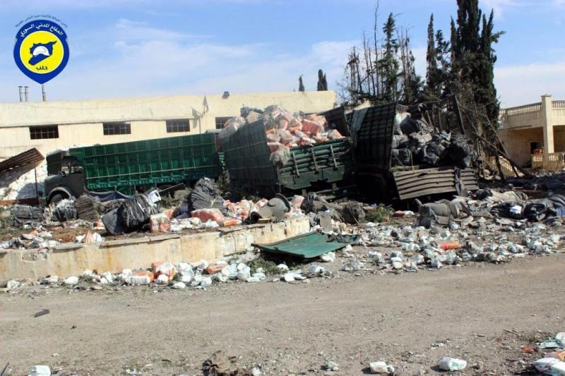 'Russen vielen hulpkonvooi Syrië aan'