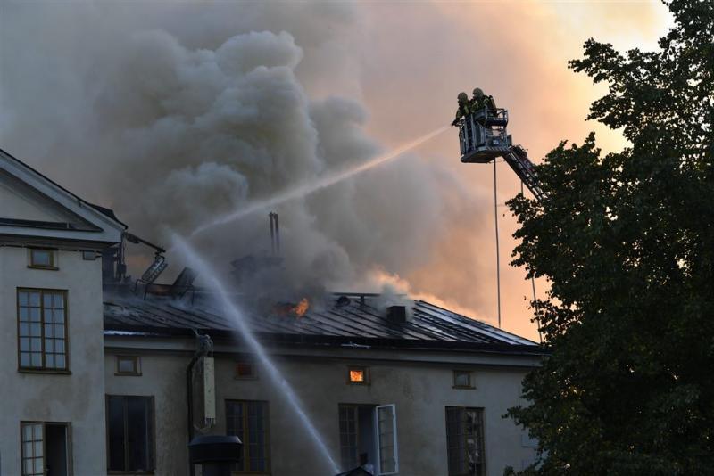Grote brand museumkwartier Stockholm