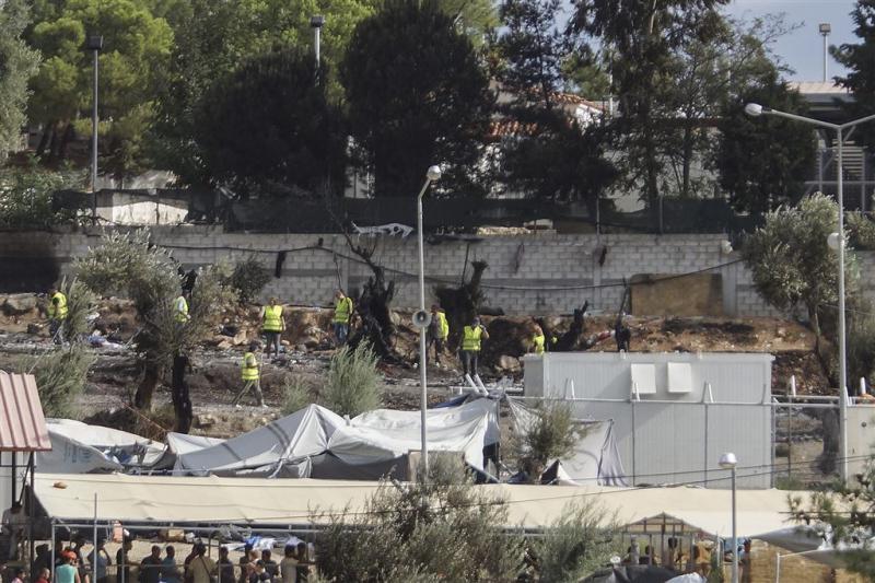 Lesbos herstelt opvangcentrum