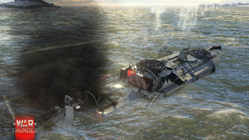 War Thunder - Kinghts of the Sea - Zinkend schip