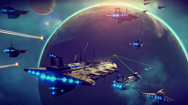 Een van de screenshots op de Steam-pagina van NMS