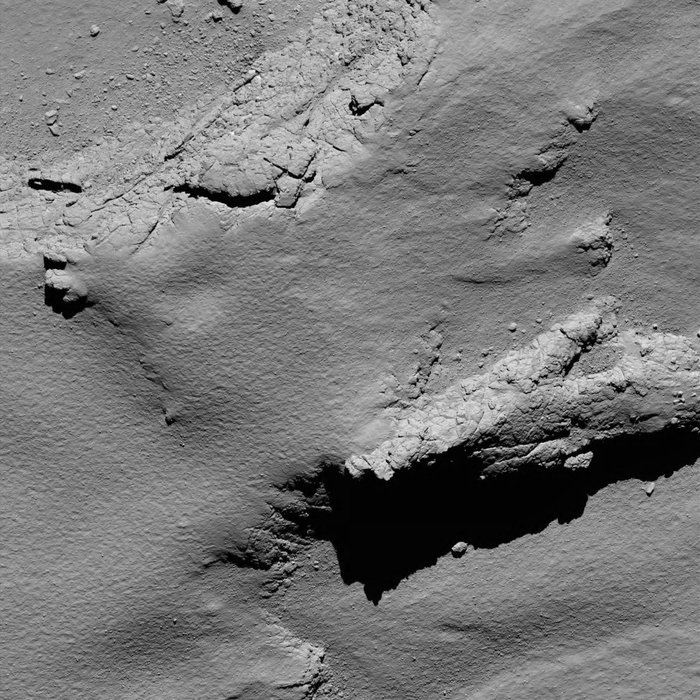 The image scale is about 11 cm/pixel and the image measures about 225 m across. (Foto: ESA)