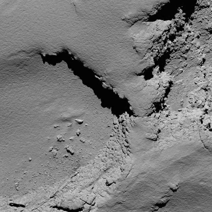 Op 5,8 km afstand, gemaakt om 10:18. 11 cm/pixel en er is 225 m te zien (Foto: ESA)