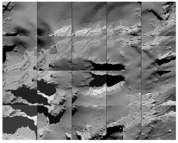 De landingsplek voor Rosetta (foto: ESA)