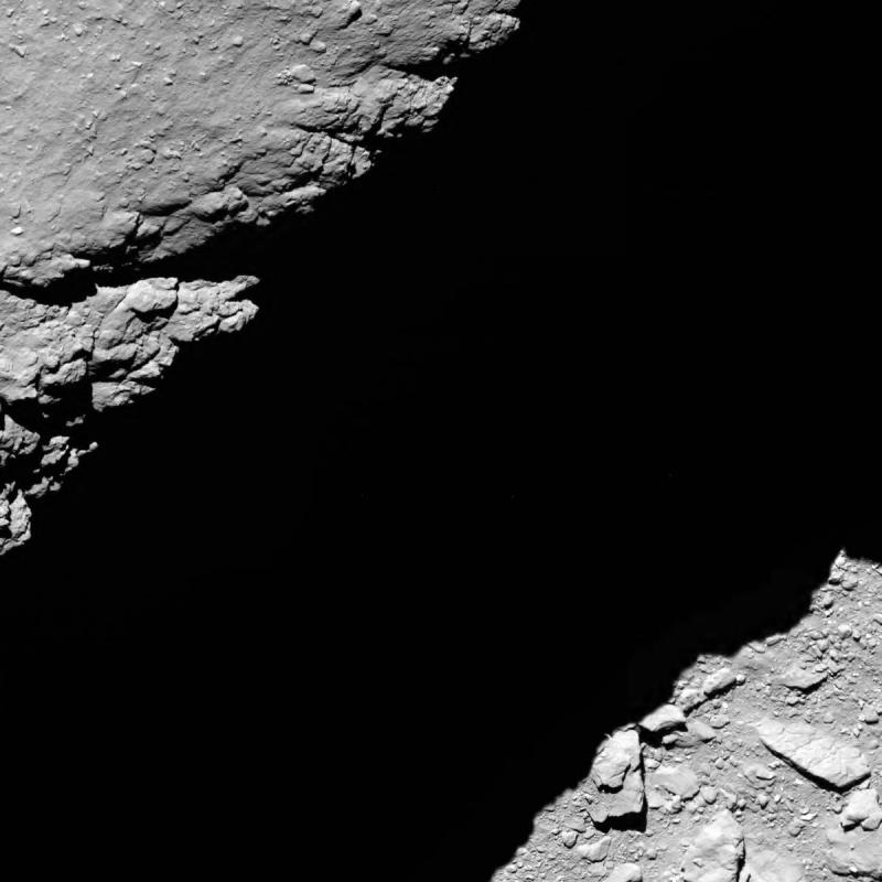 1,2 km van de oppervlakte (foto ESA)