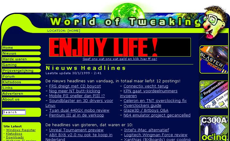 World of Tweaking, 30 januari 1999
