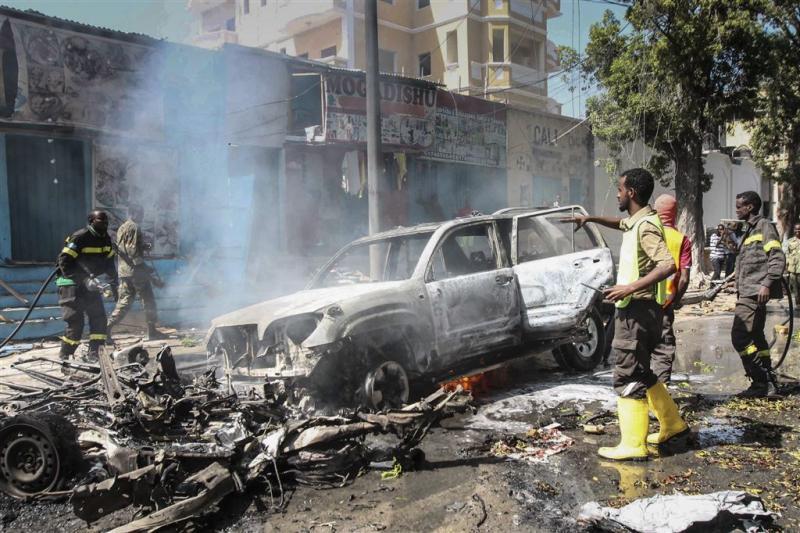 Autobom ramt restaurant in Somalië