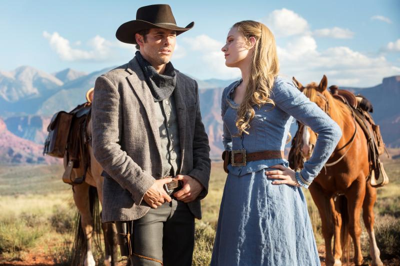 Westworld: James Marsden en Evan Rachel Wood (Foto: HBO)