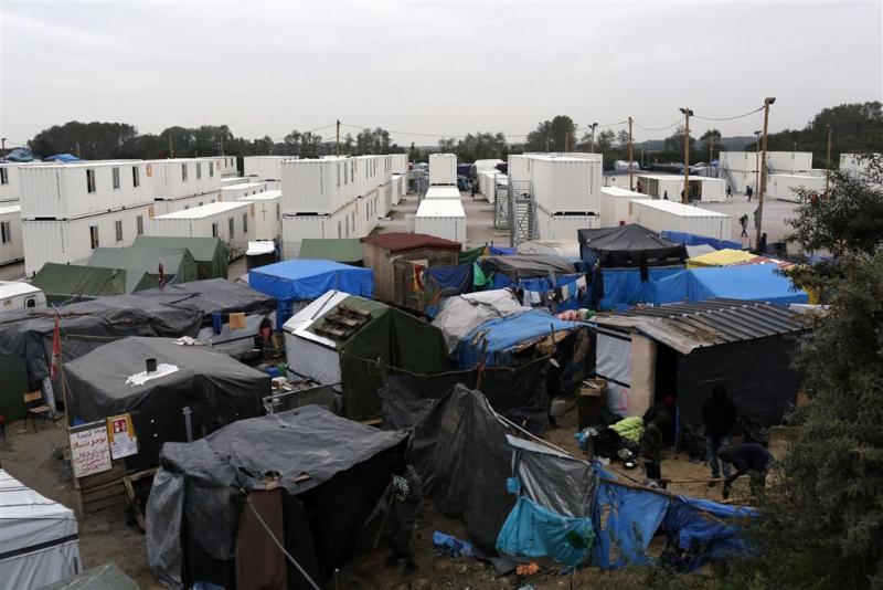 Kinderen Calais arriveren in Groot-Brittannië