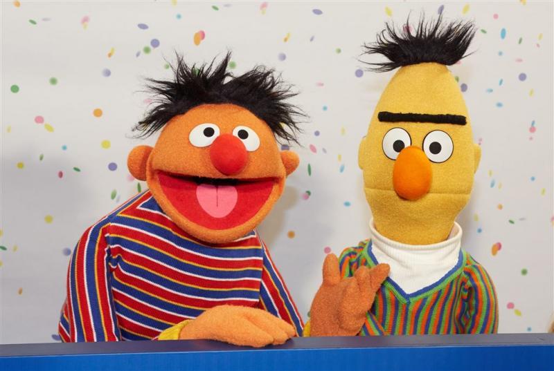 Bert en Ernie feesten in Beeld en Geluid