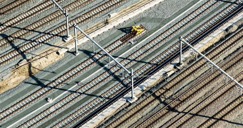 Laatste hand aan werk spoor Utrecht