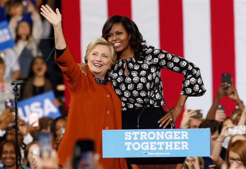 Michelle Obama voert campagne met Clinton