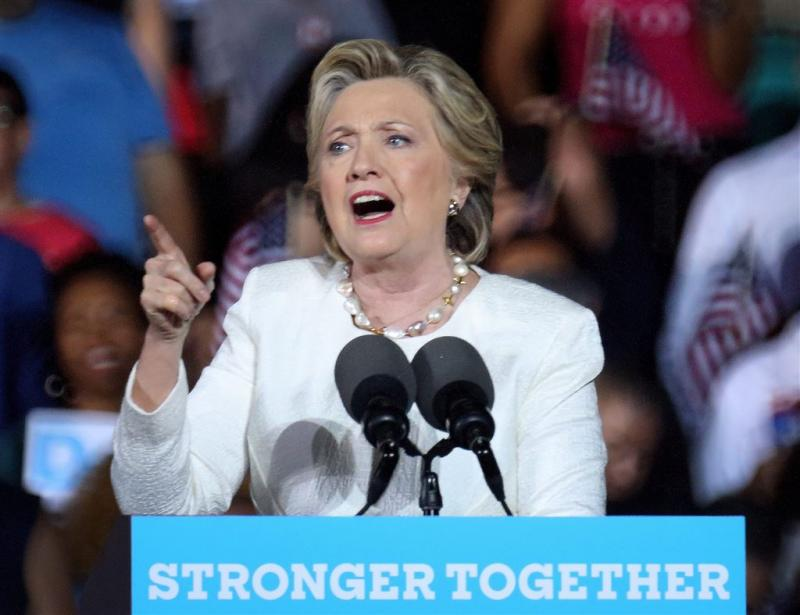 Campagneclimax Clinton in Philadelphia