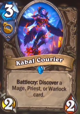 Kabal Courier Hearthstone